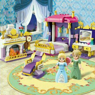 [Mã TOYDEC giảm 10% tối đa 15K đơn từ 50K] Bộ lắp ráp Enlighten 2601- mô hình phòng ngủ công chúa