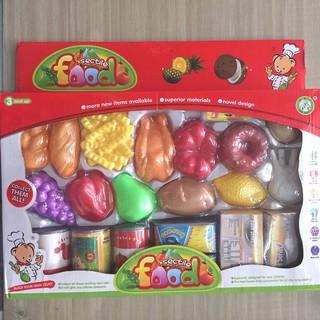 Bộ đồ chơi rau củ quả và thực phẩm đóng hộp cho bé New Forest