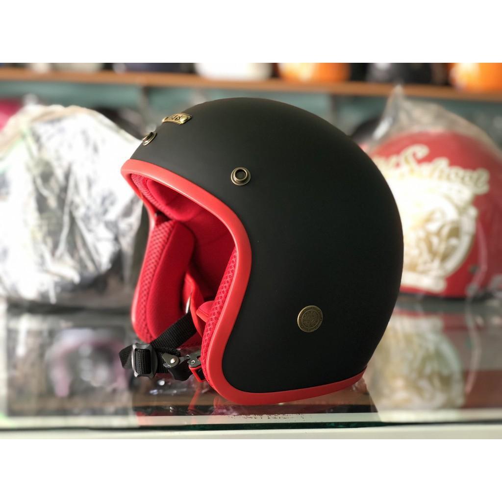 Mũ Bảo Hiểm 3/4 BOPA Cao Cấp Lót Màu-Nón bảo hiểm