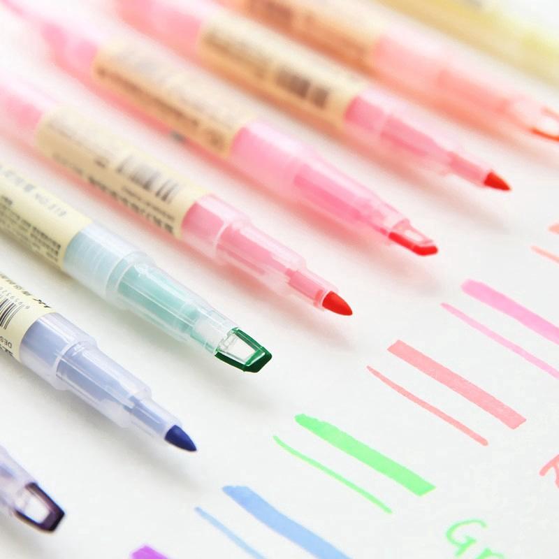 Bút đánh dấu hai đầu màu sắc xinh xắn