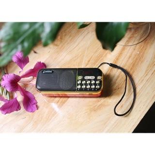 Loa Đài Cầm Tay Nghe Thẻ Nhớ Radio Fm Pin Dung Lượng Cao Âm Lượng Lớn - CA121 CARRIE 8gb Nghe Nhạc Vàng - Đỏ - Niệm Phật thumbnail