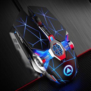 Chuột Gaming Siêu Khủng Esports Q7 Gaming Kiểu Dáng Siêu Độc Lạ, Led RGB Tự Đổi Màu
