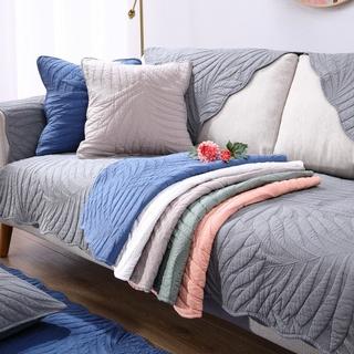 Vỏ bọc ghế Sofa bốn mùa bằng Cotton màu trơn chống trượt hiện đại thông dụng cho phòng khách