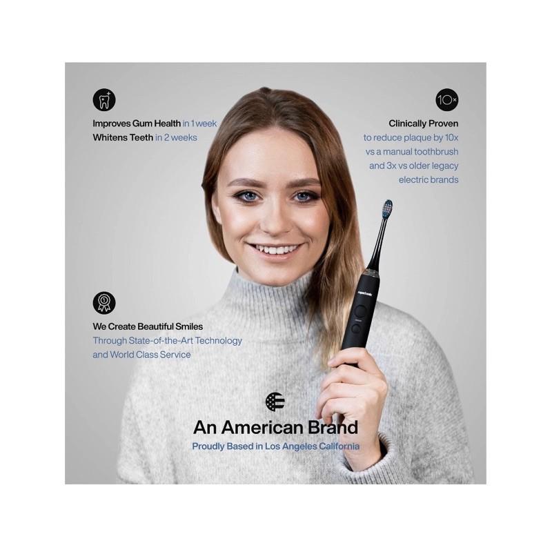Bàn chải điện Aquasonic hàng chuẩn Mỹ tặng kèm 8 đầu bàn chải hàng chất lượng cam kết chuẩn Auth