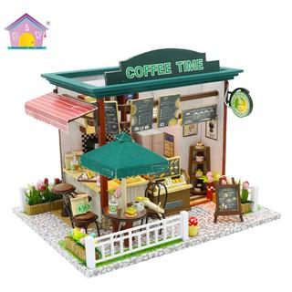 Nhà búp bê Coffee Time, lắp ráp nhà búp bê DIY