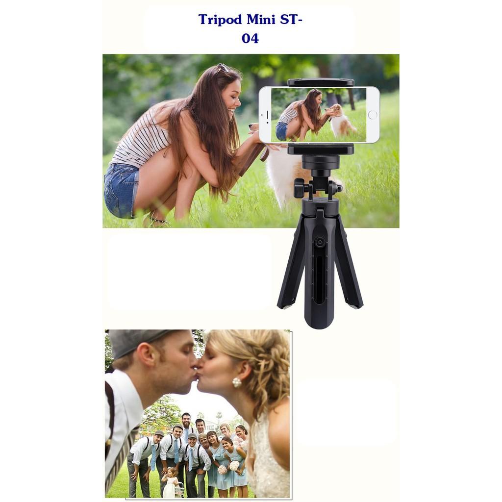 Tripod Mini cho điện thoại, máy ảnh, camera hành động ST-04