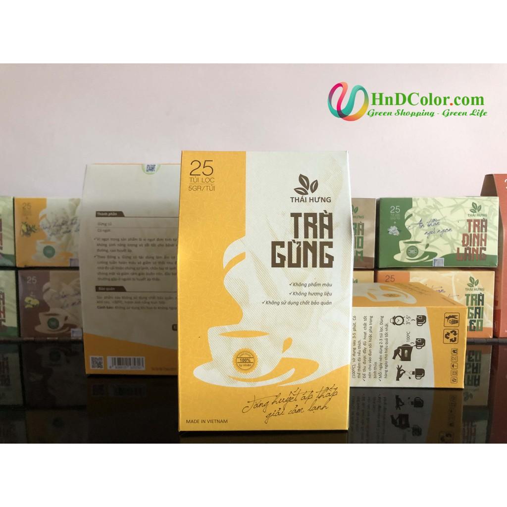 [CHÍNH HÃNG] Trà Gừng Thái Hưng (trà thảo dược, 100% tự nhiên, dạng túi) - làm ấm cơ thể, tăng cường tuần hoàn máu