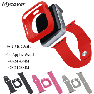 Ốp Silicone Mềm Kèm Dây Đeo 2 Trong 1 Cho Đồng Hồ Apple Watch 44mm 40mm 42mm 38mm For iWatch Series 6 SE 5 4 3 2 1