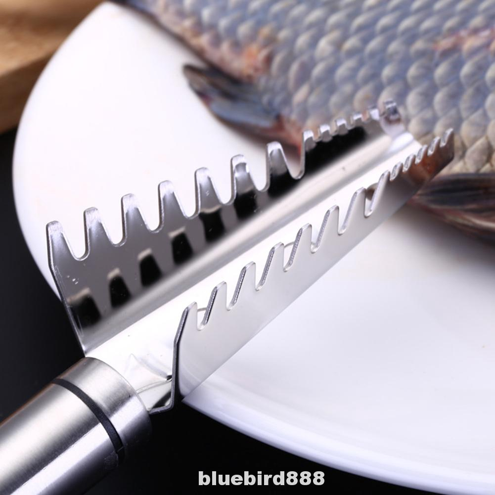 Fish Scraper Scaler Stainless Steel Brush Cleaning Cooking Tools Accessories Peeler Flying Skin Kitchen