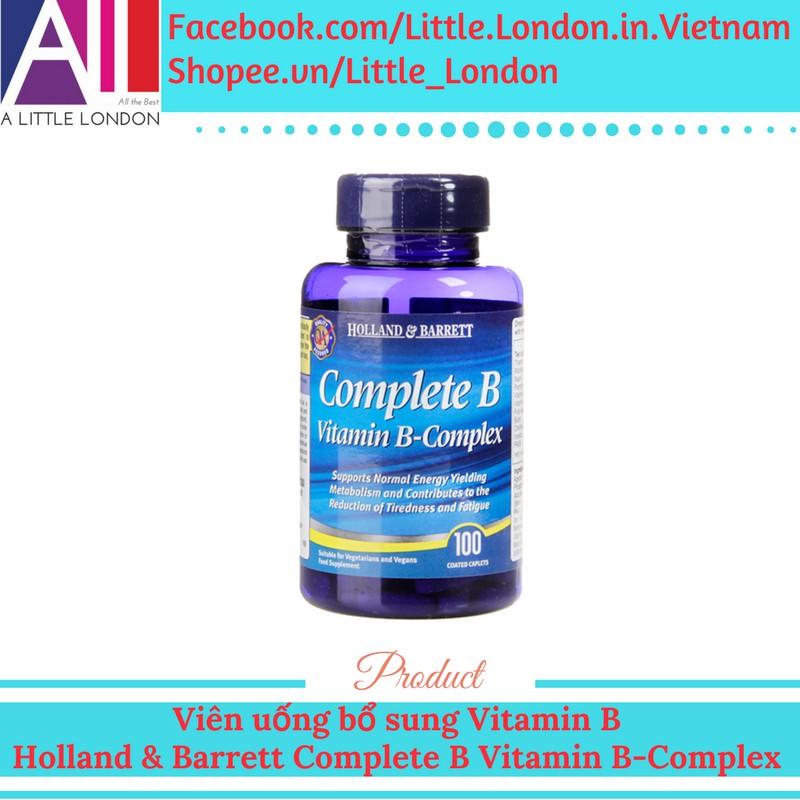 Viên uống bổ sung Vitamin B Holland & Barrett Complete B Vitamin B-Complex (Bill Anh) - 2888874 , 1044196001 , 322_1044196001 , 399000 , Vien-uong-bo-sung-Vitamin-B-Holland-Barrett-Complete-B-Vitamin-B-Complex-Bill-Anh-322_1044196001 , shopee.vn , Viên uống bổ sung Vitamin B Holland & Barrett Complete B Vitamin B-Complex (Bill Anh)