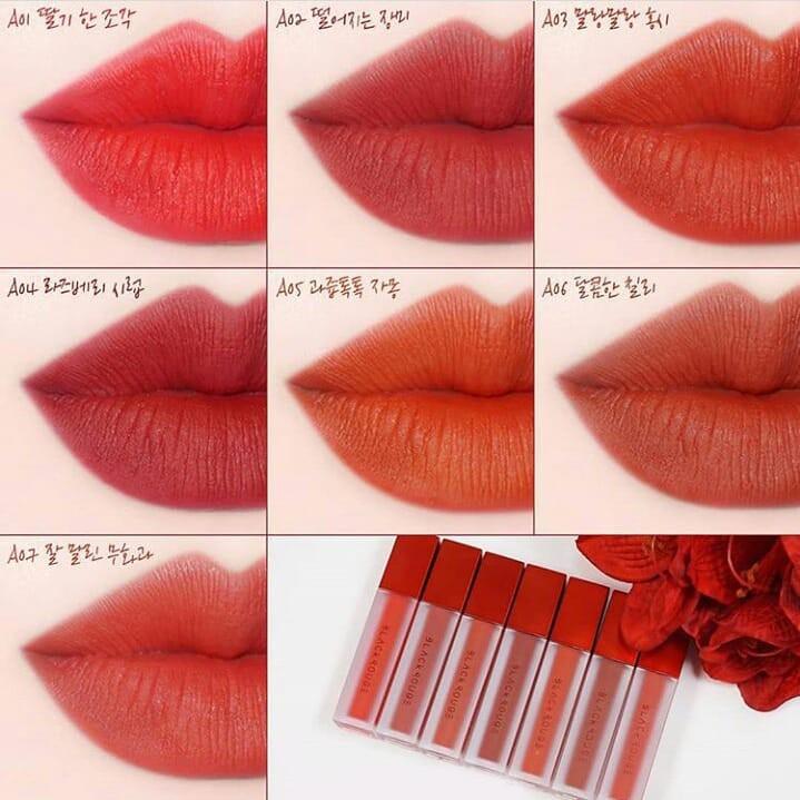 [Mã COS1901 hoàn 8% xu đơn 250K] [Ver 1-2-3-4] Son Kem Lì Black Rouge Air Fit Velvet Tint Hàn Quốc Chính Hãng