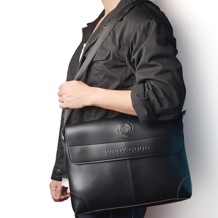 Túi đựng laptop nam màu đen mẫu mới