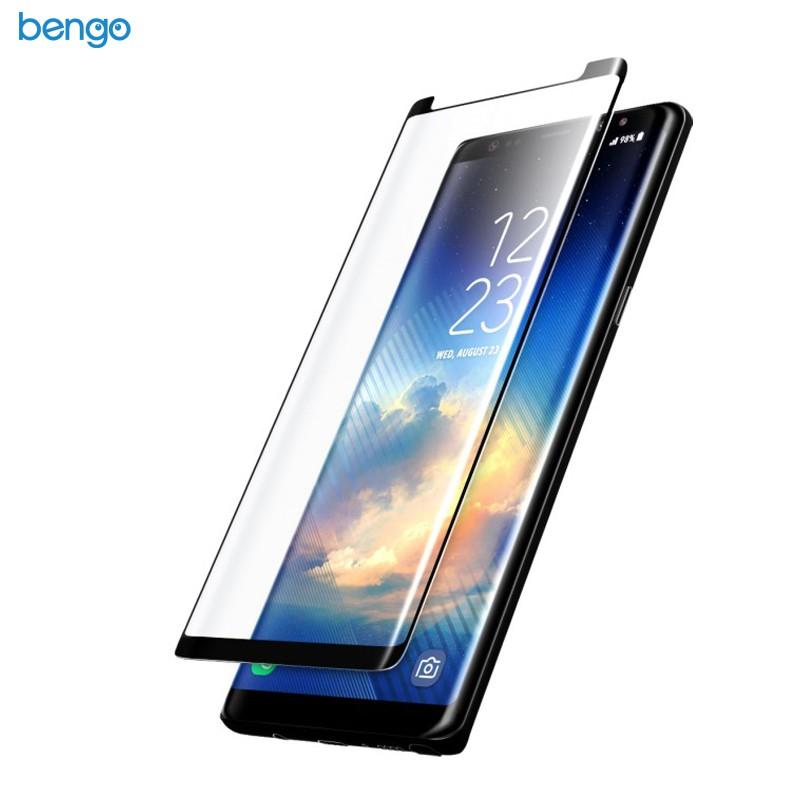 Dán màn hình cường lực Samsung Galaxy Note 8 4D full - Small-Black
