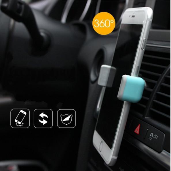 Giá đỡ điện thoại ô tô 3 chân nhét khe gió điều hòa hoặc gắn trên kính lái - Home and Garden