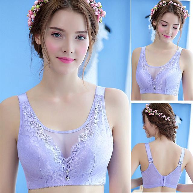 [Mã FSS09JAN hoàn 20% XU đơn từ 0đ]Áo ngực kiểu ren hoa xuyên thấu thiết kế xinh xắn gợi cảm cho bạn nữ