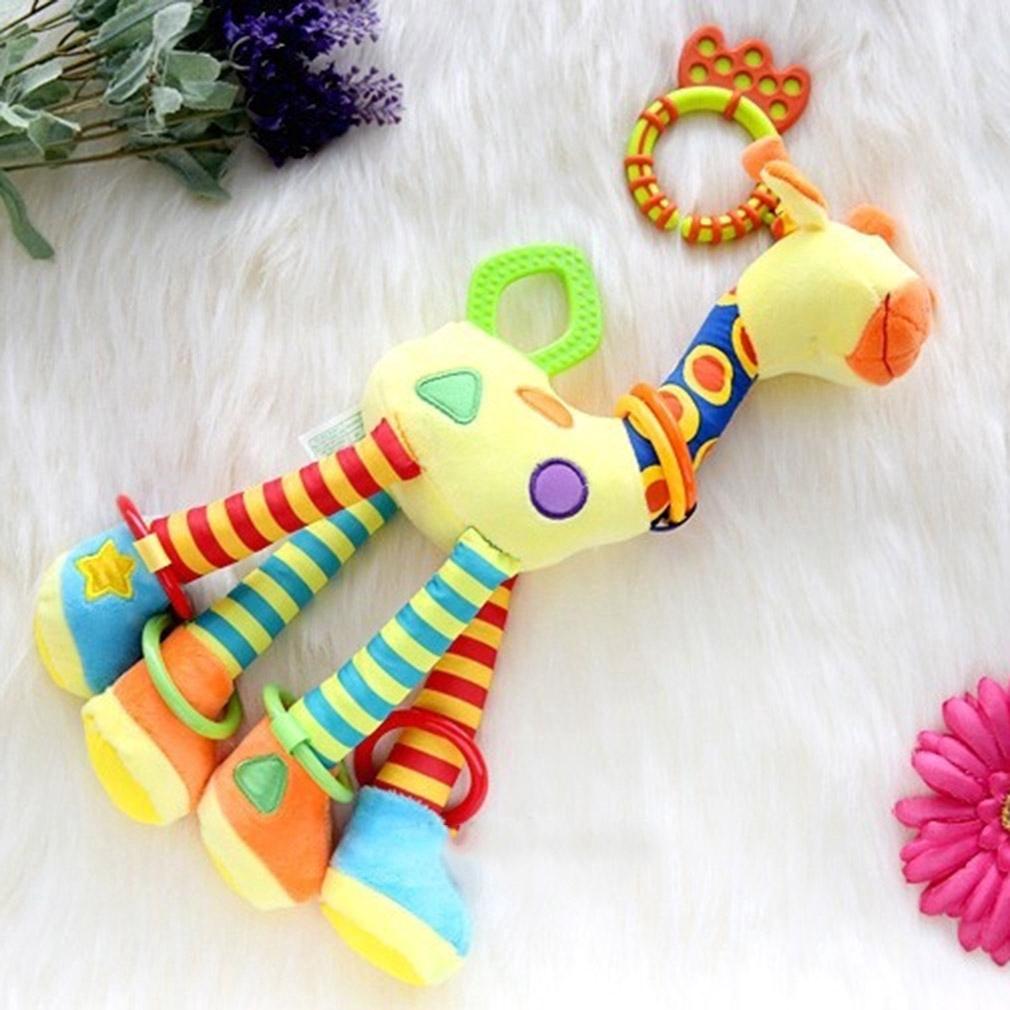 Giraffe Stuffed Animal Toy Baby Bed Hanging Stuffed Doll Soft Plush Toy