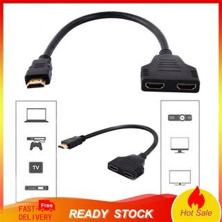 Dây cáp chia cổng HDMI 1080P 2 trong 1 tiện lợi