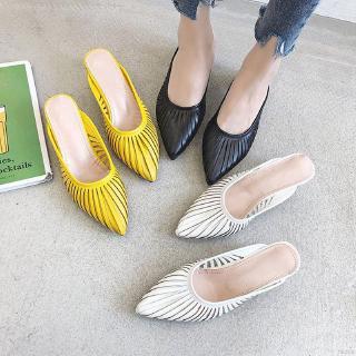 Giày sandal nữ mũi tròn thoáng khí thời trang