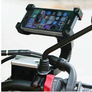 Giá đỡ điện thoại kẹp 4 góc gắn kính chiếu hậu xe máy loại chất lượng 206643