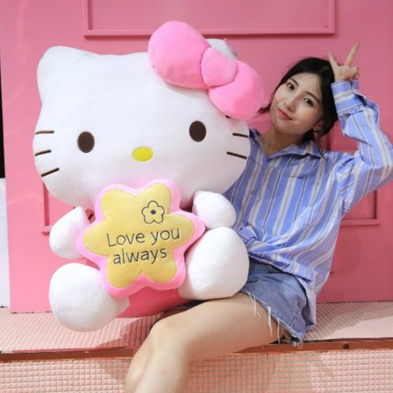 [XẢ HÀNG] Gấu Bông Hello kitty CUTE Cho Bé – Thú Bông Nhập Khẩu Cao Cấp – Chiều Cao 68cm