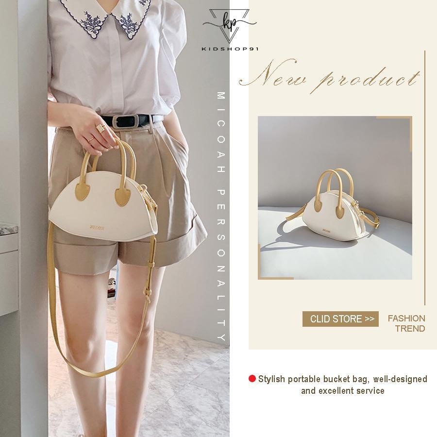 Túi đeo chéo nữ - Túi đeo chéo Micocah kiểu dáng mới 2020, Giỏ xách nữ kiểu dáng mới điệu đà MSP: 437