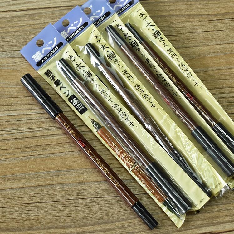 มิตซูบิชิวิจิตรผมแปรงปากกานุ่มปากกาปฏิบัติแม่ลูกปากกาเขียนพู่กัน