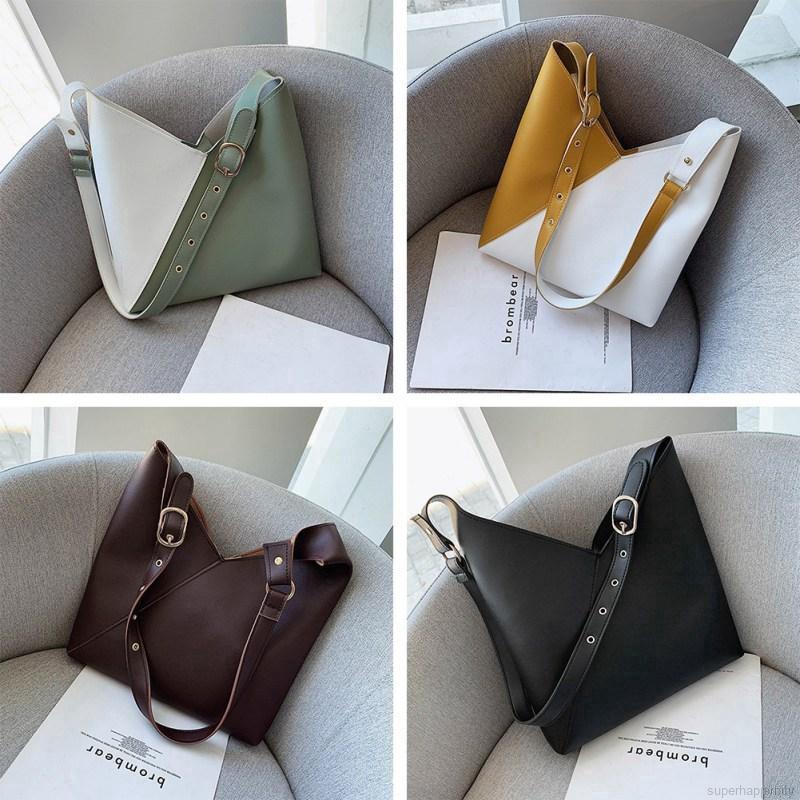 Contrast wild female portable shoulder fashion bucket bag bun mother bag female fashion trend