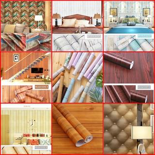 Giấy dán tường decal giả gỗ chống nước bóc dán khổ 45cm trang trí shop, salon tóc, nhà hàng, dán mọi bề mặt bàn tủ kính thumbnail