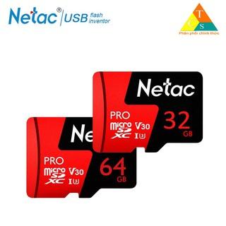 Thẻ nhớ micro sd Netac 32GB U3 Pro Class10 - Hàng Chính Hãng