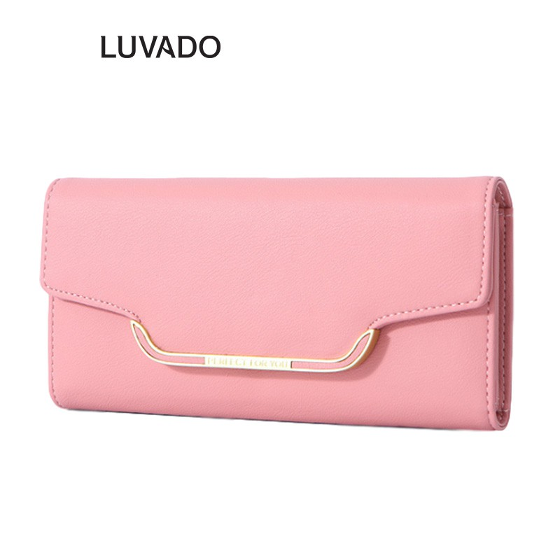 Ví nữ thời trang dáng dài đựng tiền PERFECT FOR YOU cầm tay nhiều ngăn cao cấp LUVADO VD353