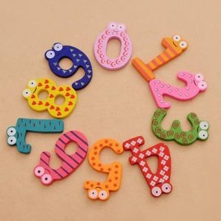 [💕SKIC] 10 Number Large Cartoon Kids Educational Toy Wooden Fridge Magnet 10pcs