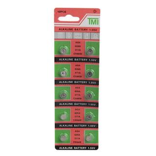 Vỉ pin đồng hồ phổ thông AG4 - 626 - 377A ( 1 vỉ 10 viên pin)