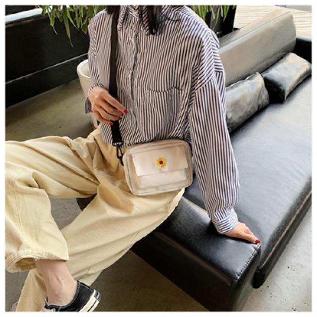 Túi xách tote vải đeo chéo nữ 2020 HOA CÚC TV15