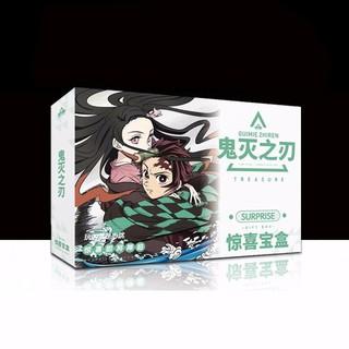 ( Surprise ) Hộp quà Kimetsu no Yaiba Thanh Gươm Diệt Quỷ A5 có poster postcard bookmark in hình anime chibi