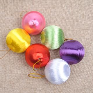 ♀DIY NEW Glitter Christmas thread Balls Christmas Tree Hanging Ornament Christmas Decoration
