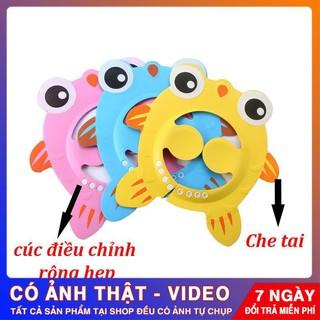 [HÀNG CHUẨN] Mũ gội đầu cho bé hình cá chắn nước chắn bọt thumbnail