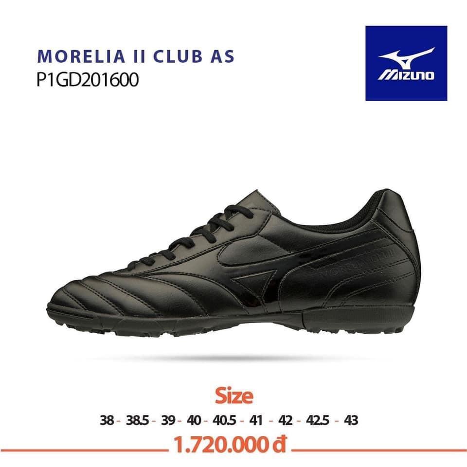 [Thanh lý lẻ size 43] Giày Đá Bóng Mizuno MORELIA II CLUB AS Chính hãng cỡ 43 màu Trắng