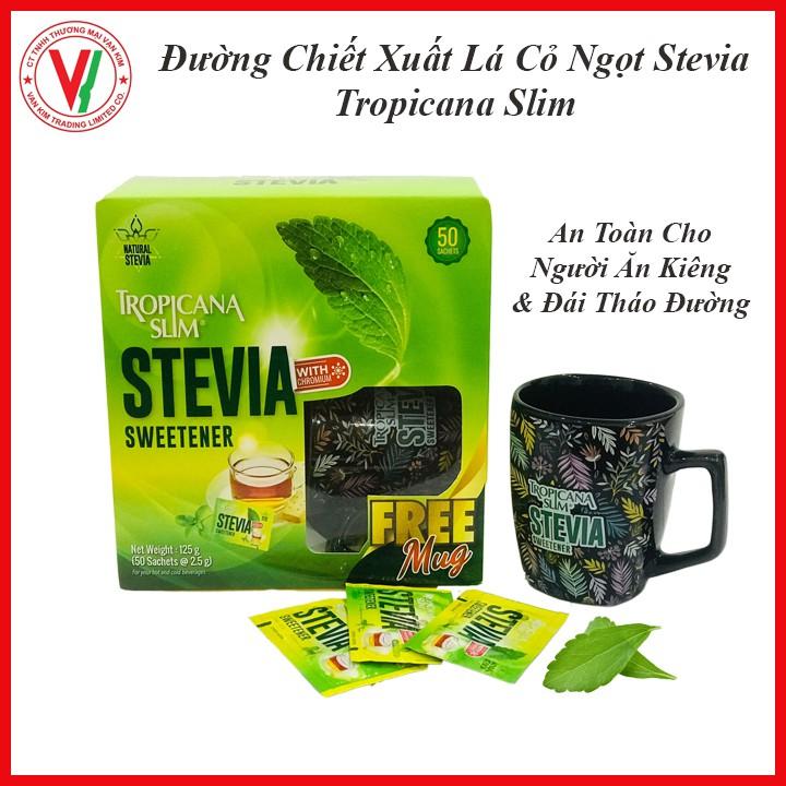 Đường Ăn Kiêng Lá Cỏ Ngọt Stevia Tropicana Slim, Dành Cho Người Tiểu Đường Và Ăn Kiêng Lành Mạnh