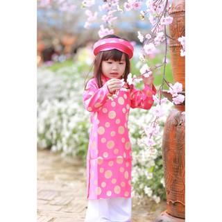 Áo dài Gấm Thái Tuấn dành cho Bé Gái (10-35kg) áo và quần