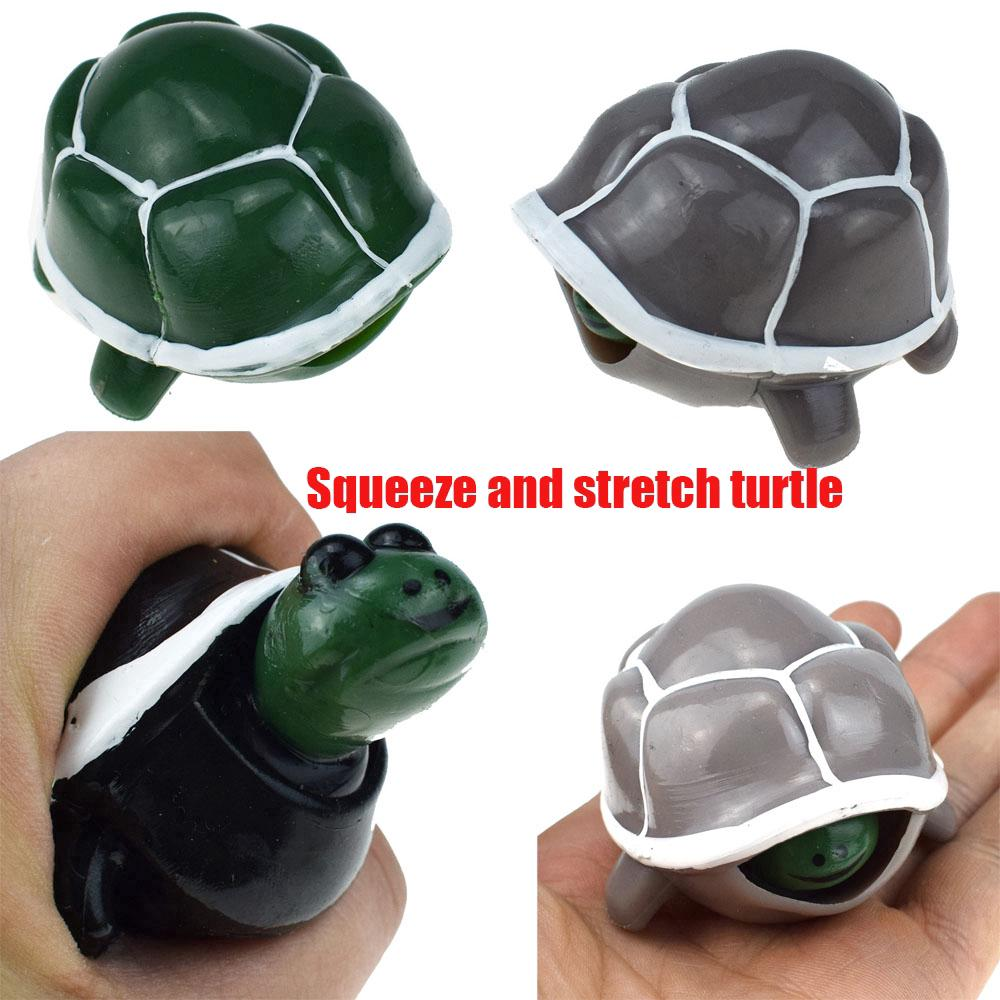 Cute Tortoise Telescopic Head Anti Stress Squeeze Toys Child Funny Toy