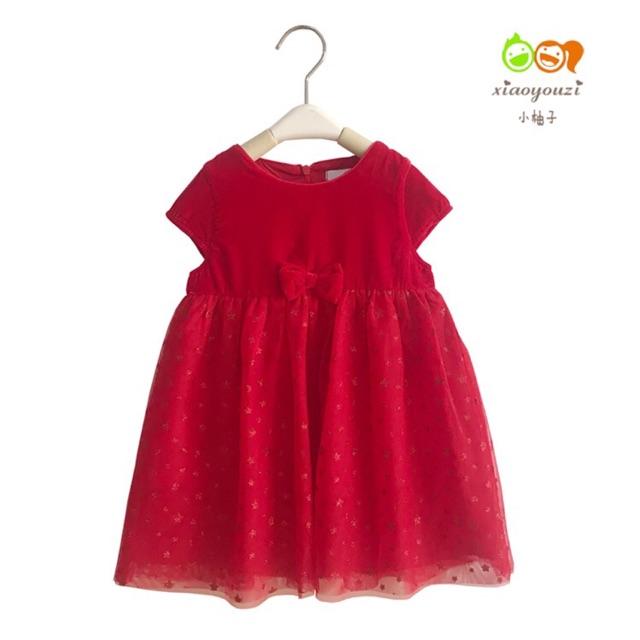 Váy nhung cho bé