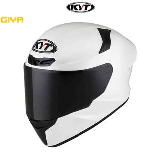 Mũ bảo hiểm fullface KYT TT chính hãng màu trắng bóng