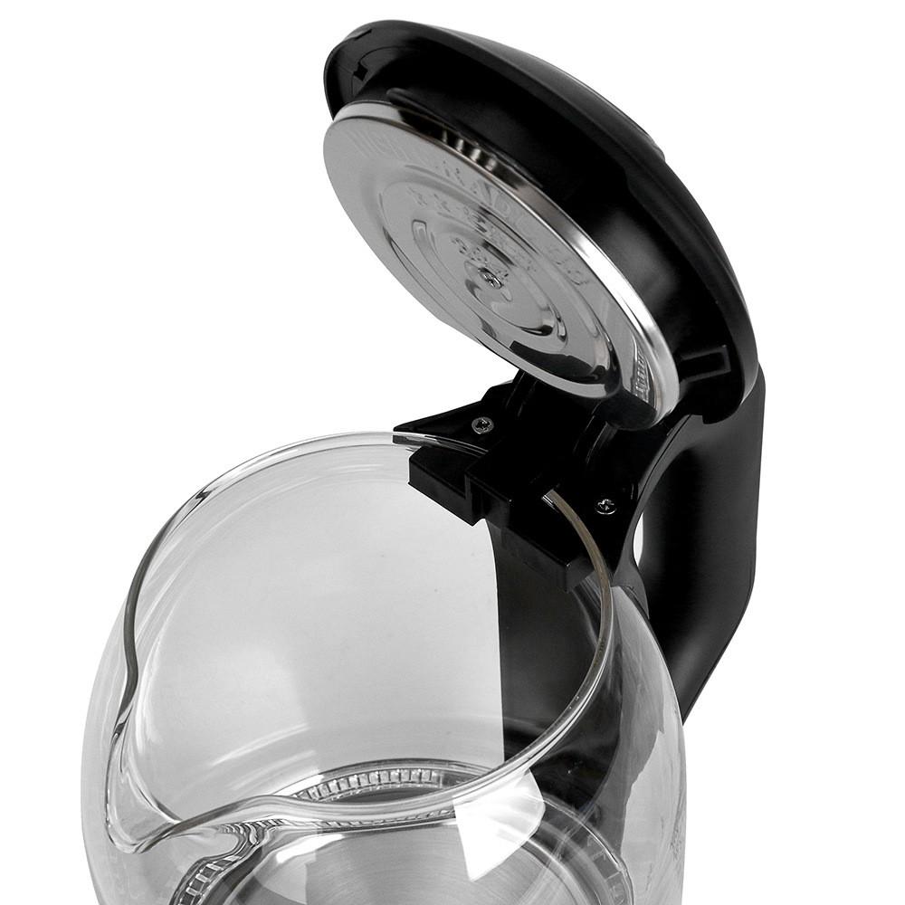 Ấm siêu tốc thủy tinh HAEGER bình đun nước dung tích 2L công suất lên đến 2000W đun sôi chỉ từ 4 phút