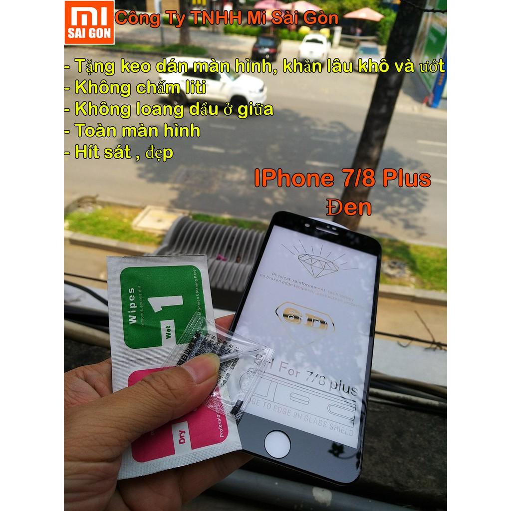 Cường lực 5D IPhone 7plus/8 Plus Full màn hình ( 1 miếng đen )
