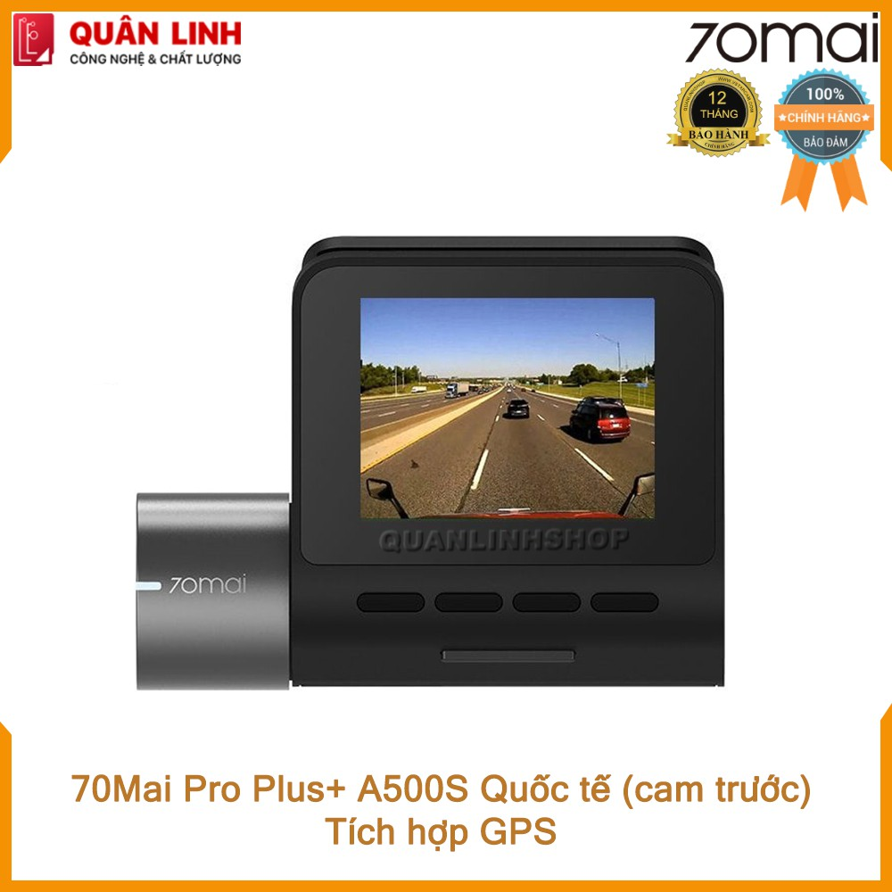 Camera hành trình 70mai Dash Cam Pro Plus+ A500S Quốc tế (cam trước) - Bảo hành 12 tháng