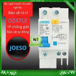 Aptomat chống giật JOESO At 1Pha DZ47-63 Attomat( 16A, 32A, 63A)