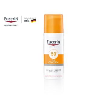"""[FMCG27 giảm 8% ĐH500K] Kem chống nắng cho da nhờn mụn Eucerin Sun Gel-Cream Dry Touch Oil Control SPF50+ 50ml - 69767 giá chỉ còn <strong class=""""price"""">42.500.000.000đ</strong>"""