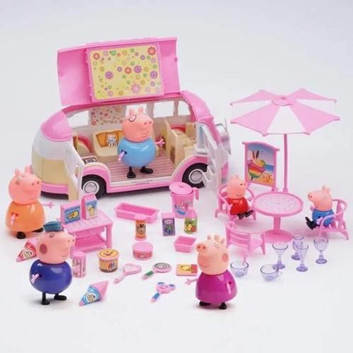 Bộ đồ chơi gia đình Peppa Pig đi picnic – gia dinh heo di gia ngoai