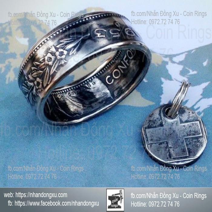Nhẫn Đồng Xu 5 fr Thụy Sĩ