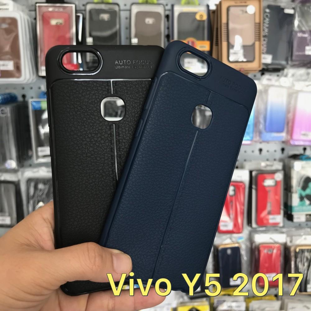 Ốp lưng dẻo vân da nổi Autofocus dành cho Vivo Huawei Y5 2017